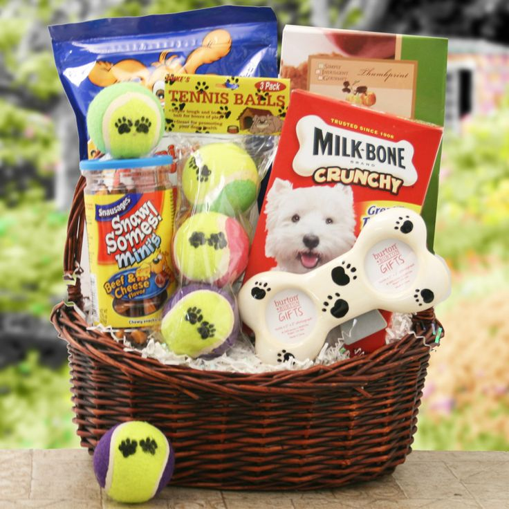 Welcome a new furry buddy home in style with the Bark Buster Gift Basket. Sure to be the delight of your favorite new pet, this basket includes plenty of treats for Fido - along with some tasty Too Good Gourmet cookies for his new humans! -- Julianna