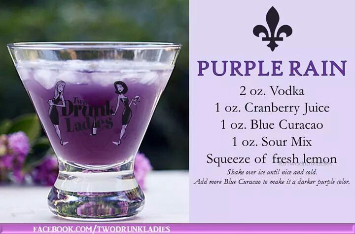 Pin By Hope K Thompson On Cocktail Drink In 2020 Purple Drinks Purple Drinks Alcohol Purple Rain Drink