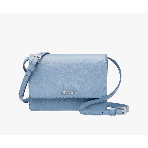 PRADA Small Bag ($1,130) ❤ liked on Polyvore featuring bags, handbags, shoulder bags, pale blue, women, purse shoulder bag, blue hand bag, man shoulder bag, handbags shoulder bags and handbags & purses