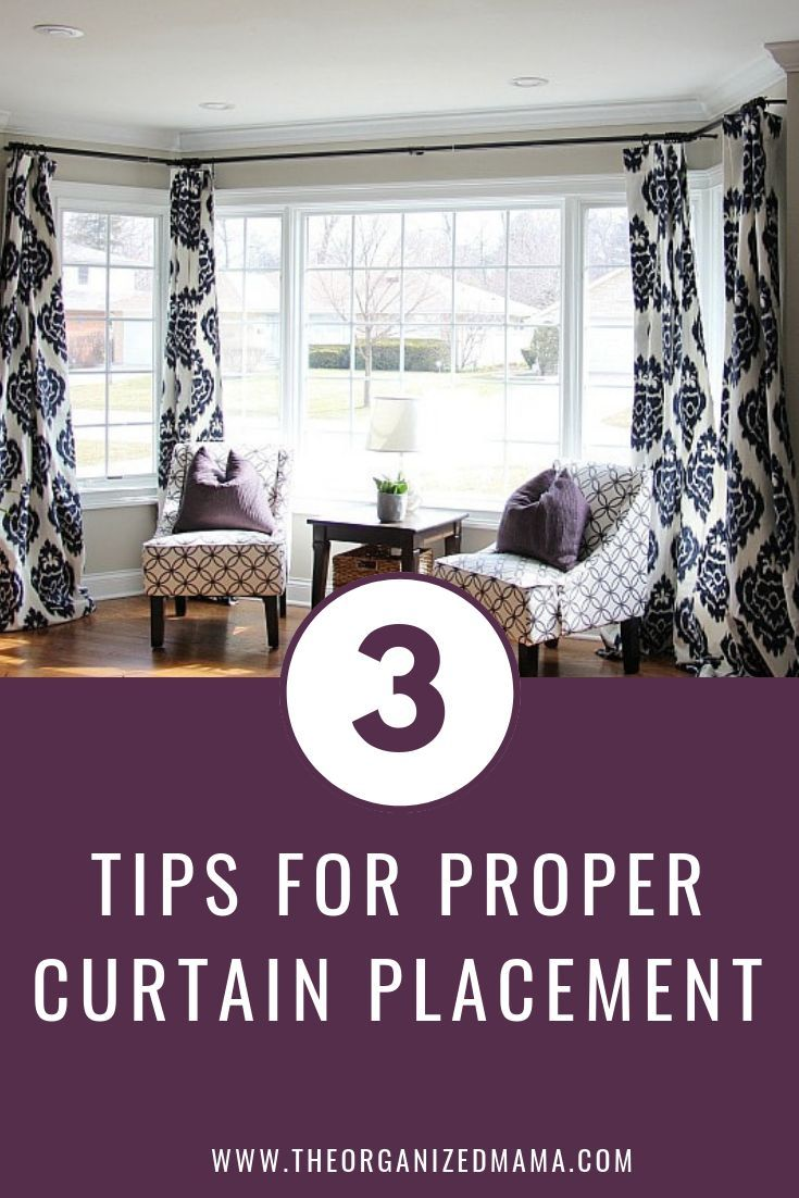 How To Hang Bay Window Curtains On An Oversized Window The