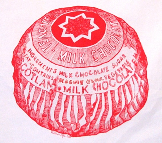 Tunnocks Teacake Tea Towel ~ Gillian Kyle