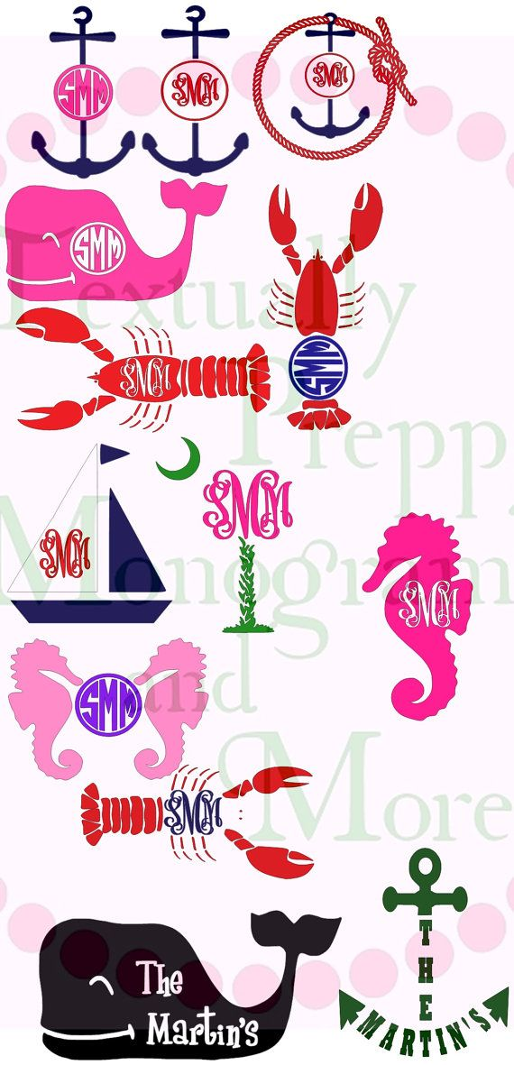 beach monogram ideas