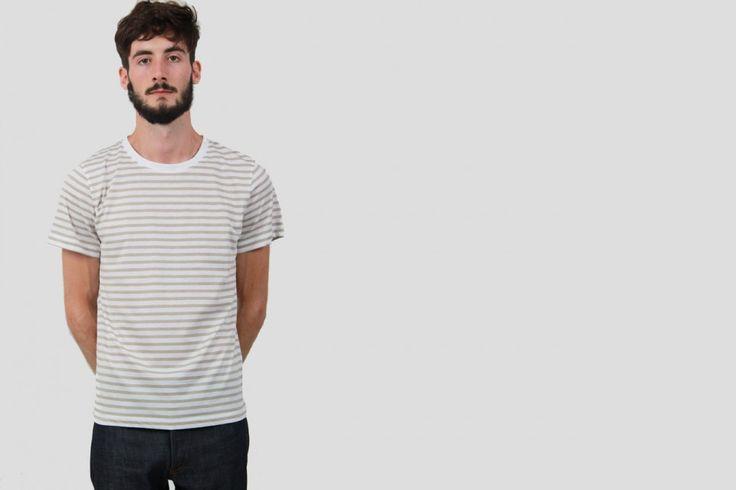 A.P.C.---T-shirt Rayé---Blanc - A.P.C. - Designers