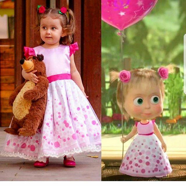 E como resistir ? Masha e o urso no episódio aniversário da Masha! Muita fofura! Vestidos exclusivos ,desenvolvemos a estampa de acordo com o tema . construindo um momento mágico e cheio de encanto!