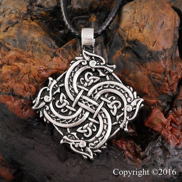 1pcs Norse Vikings Pendant Necklace Wolf Head Necklace Original Animal Jewelry Wolf Head hange Warrior Amulet Pendant Necklace