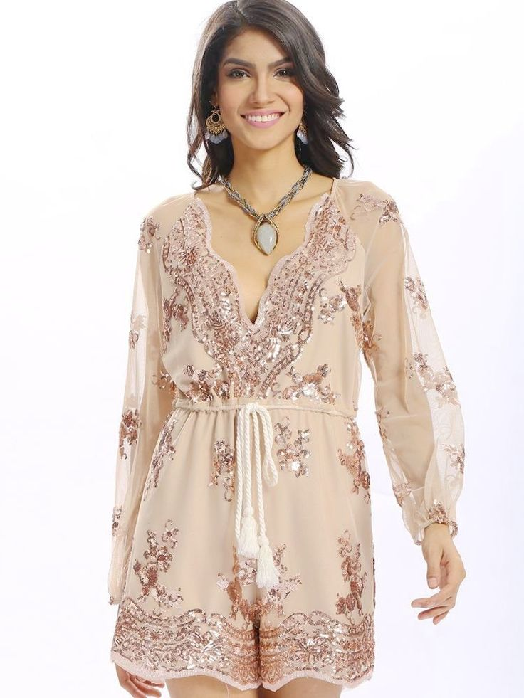 Description:     Neckline:V Neck   Sleeve Length  :Long Sleeve   Style:Sexy   Length:Short   Material:Polyester      Package included:  1*Jumpsuits