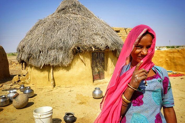 Village, thar desert