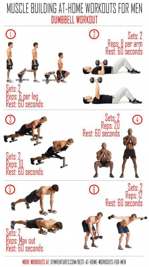 At-Home-Workouts-for-Men---Dumbbell-Workout #homeworkouts