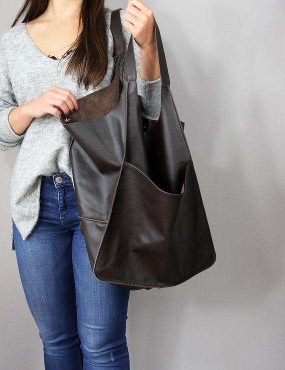 Soft Leather Bag Brown  Handbag Hobo Bag no1 Designer Handbag Shoulder Hobo Bag Foldover Bag Large Shoulder Bag Designer Handbag
