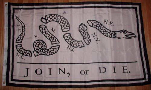 Join or Die 3x5 Flag Benjamin Franklin Snake 3 x 5 NEW Outdoor, Home, Garden, Supply, Maintenance. Join or Die Flag - Snake - 3 x 5 ft Benjamin Franklin. 3 foot by 5 foot - cloth poster is made of duriable polyester.