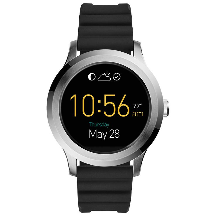 Fossil Q Founder Gen 2 Touchscreen Black Silicone Stainless Steel Sale