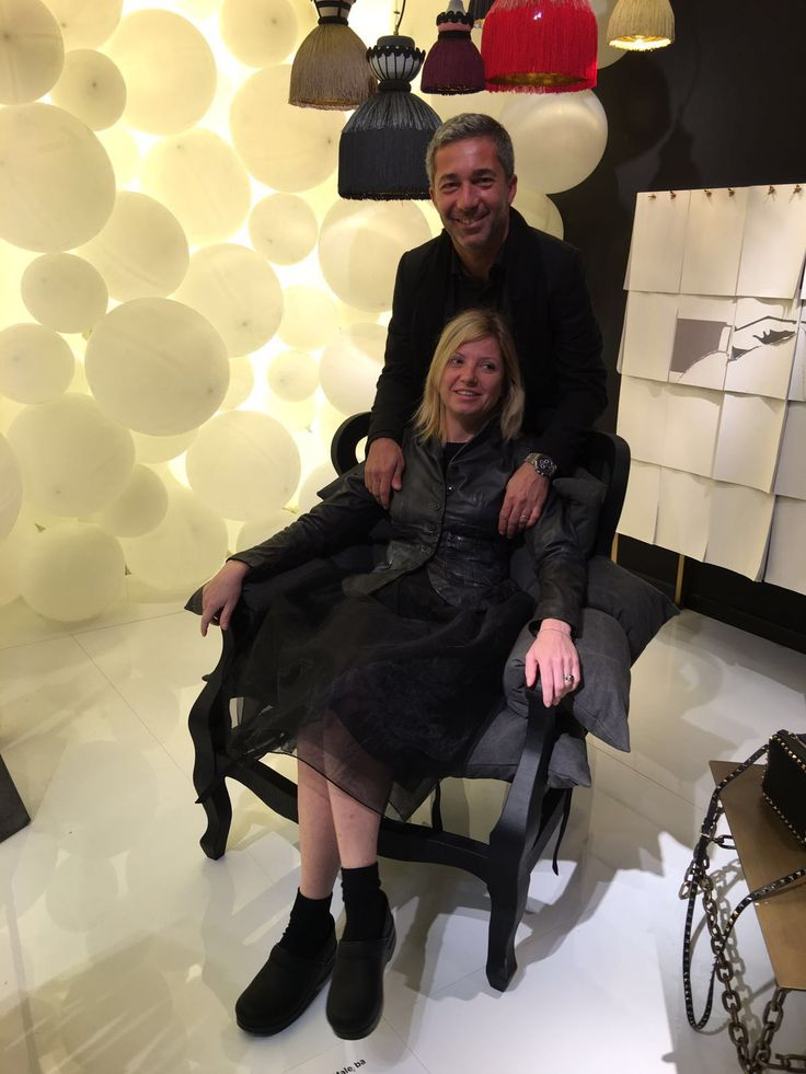 Lorenzo and Marzia Dainelli from #DainelliStudio at MOGG, Pad. 10 Stand B 07 #SaloneDelMobile #Salone2016 #InteriorDesign #InteriorDesigner #MDW #MilanDesignWeek