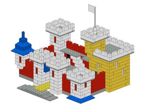 Lego castle - misc building instructions More