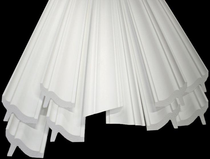 """Styrofoam crown molding, Foam crown molding, 3.5"""" 6 Styles"""