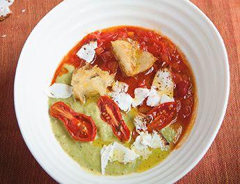 festa of flavors: tomato soup and spicy zucchini purée La Cucina ...