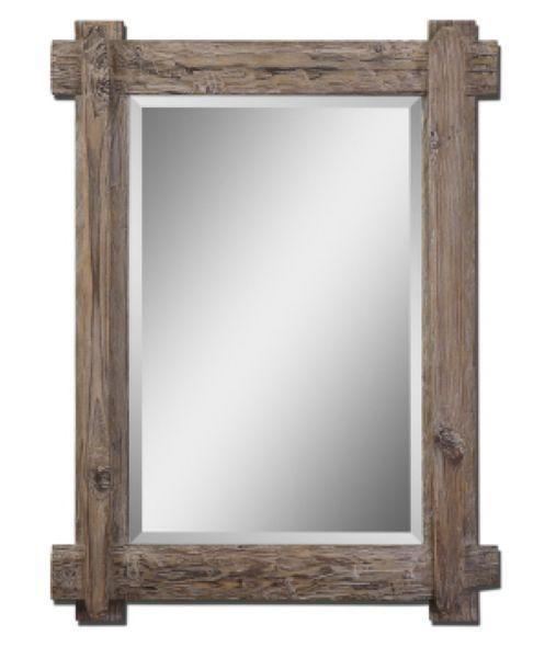 Rustic Wood Lodge Mirror