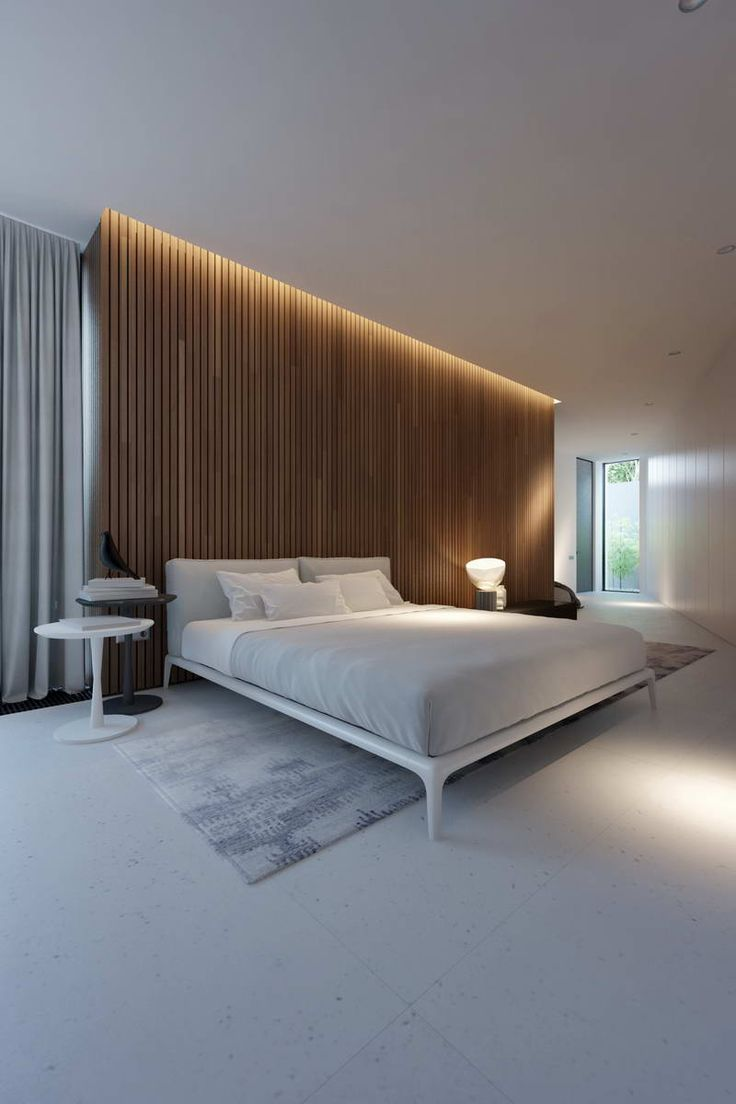 Piano house by Line Architects - bedroom render