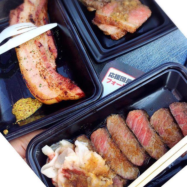 #肉フェス#肉#🍖#佐賀牛#山形牛#ステーキ#ベーコン#隣#オクトーバーフェス#oktoberfest#bananabeer#最高#beef#festival#meat#tokyo#odaiba#japan#loveit#❤️#👍#✨