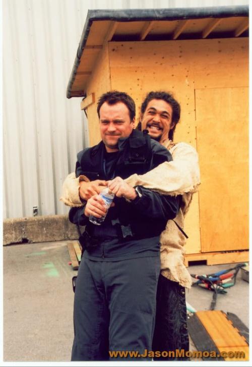 Jason Momoa and David Hewlett