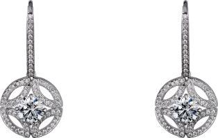 Galanterie de Cartier earrings White gold, diamonds