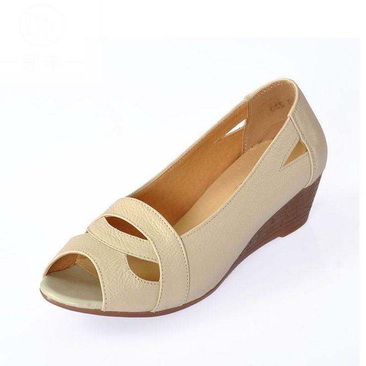 $34.77 (Buy here: https://alitems.com/g/1e8d114494ebda23ff8b16525dc3e8/?i=5&ulp=https%3A%2F%2Fwww.aliexpress.com%2Fitem%2FWomen-Sandals-2016-Fashion-Summer-Ladies-Shoes-Woman-Genuine-Leather-Casual-wedge-Sandals-Open-Toe-Platform%2F32572402968.html ) Women Sandals 2016 Fashion Summer Ladies Shoes Woman Genuine Leather Casual wedge Sandals Open Toe Platform Sandals Women Shoes for just $34.77