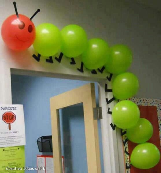 Gusano con bombas, muy creativo para decorar fiesta infantil