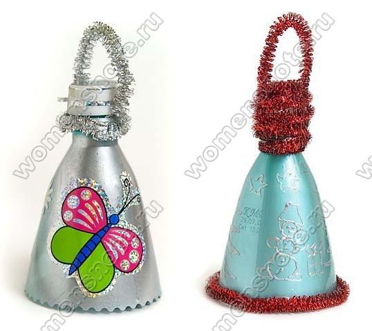 Сделать своими руками новогодние игрушки из пластиковых