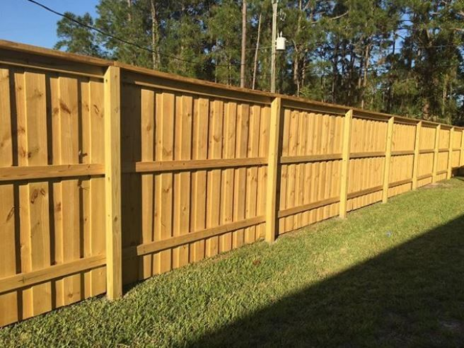Flush Top Board On Board Fence Mossy Oak Fence Orlando Melbourne Fl Fence Design Wood Fence Design Fence Planning