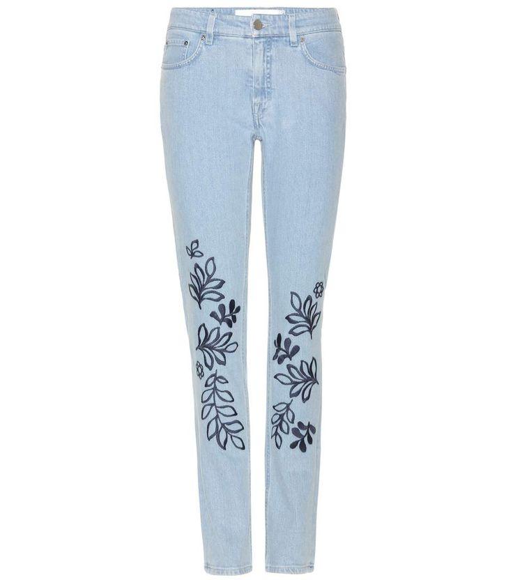 VICTORIA VICTORIA BECKHAM Bestickte Jeans. #victoriavictoriabeckham #cloth #jeans
