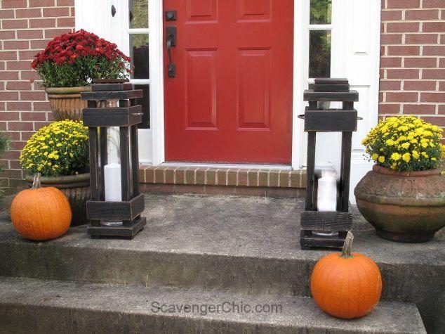 Diy Exterior Porch Lanterns, Home Decor, Lighting, Outdoor Living, Pallet,  Woodworking