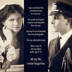 Louis Mountbatten who was a British aristocrat loved the Maria Nikolaevna who was his cousin. However, she was killed by Bolshevik.