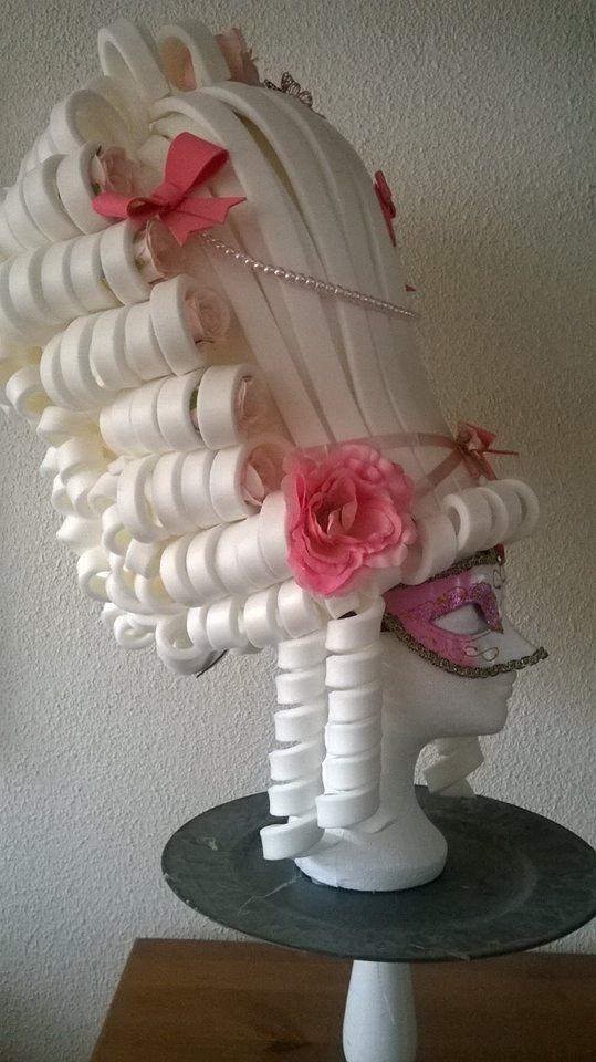 Super Sweet Marie Antoinette Foam Wig sideview made by Lady Mallemour. Check my facebook site for more models