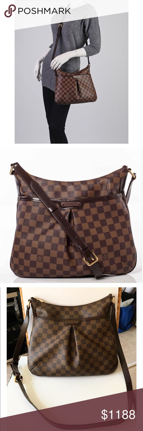 """💯Authentic Louis Vuitton Damier Bloomsbury Bag Authentic Louis Vuitton Bloomsbury PM Damier Ebene. Exterior canvas has minor dirt marks, straps have creasing and minor wear, hardware has minor fading, zipper works properly. Interior has minor dirt marks and small pen mark. Interior has 2 pockets, exterior 1 pocket with magnetic snap closure. Strap adjustable with notches 20""""-25"""". Can be used as a cross body or shoulder bag. Made in France, date code SP2160. Size 10.6""""H x 11.8""""L x 1.2""""D. NO…"""