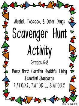 Scavenger Hunt Activity Alcohol, Tobacco,  Other Drugs