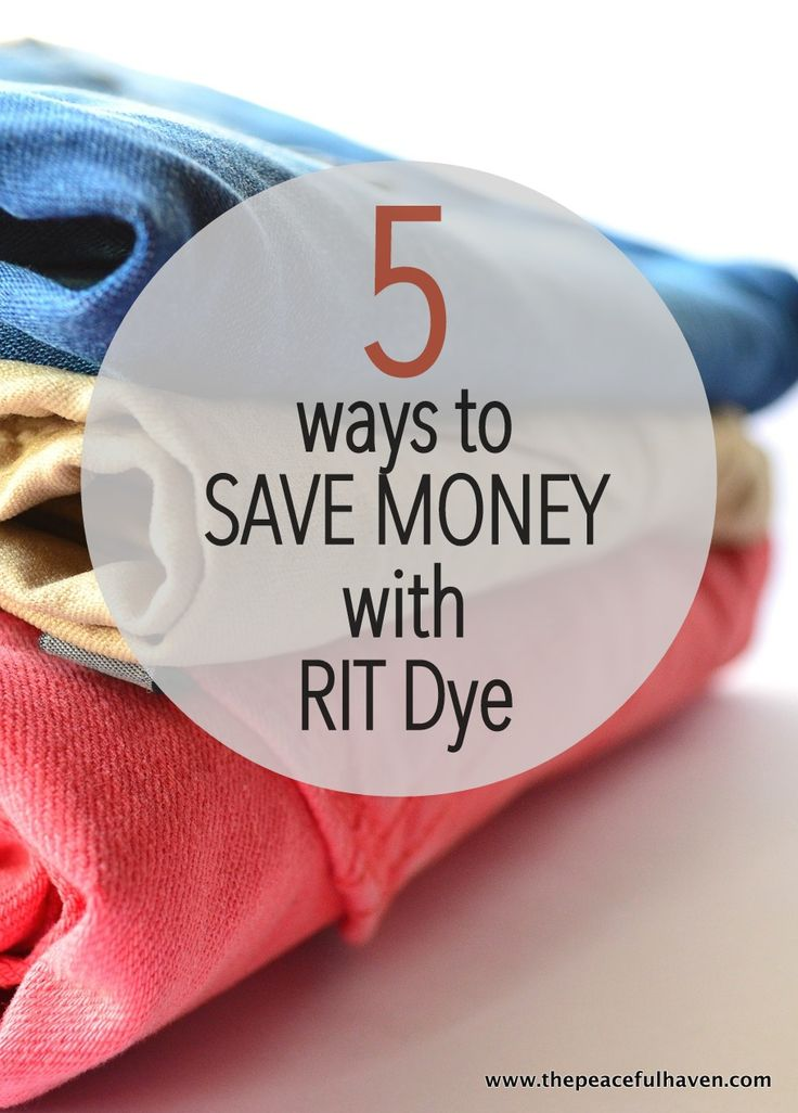 I never thought of these ideas!!  Save money with Rit Dye!