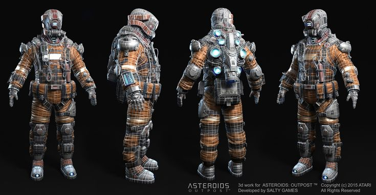 http://amdeewet.cgsociety.org/art/digital-zbrush-3d-keyshot-characters-photoshop-game-model-space-miner-17692759