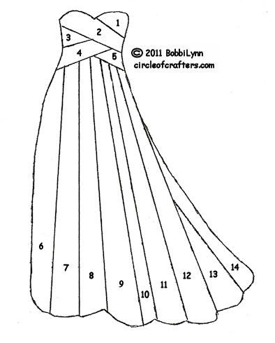 One more gown pattern - Circle Of Crafters