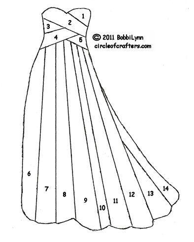 iris folding gown template - bjl                                                                                                                                                      More