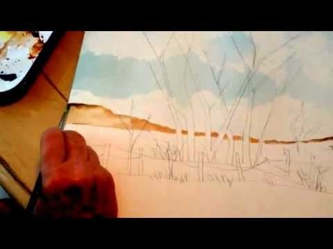 This is part 1 of a 6 part series on the foreground and background of a painting.  Jacqueline Burke is a professional painter and she has taught watercolor painting for over 30 years. Please check out our website at www.WaterColorTeacher.com.