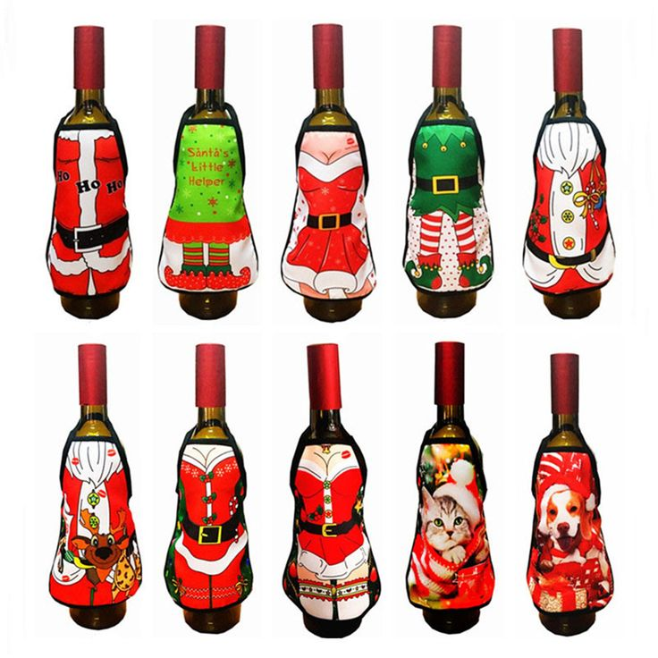 Christmas Santa Claus Wine Bottle Covers //Price: $23.16 & FREE Shipping //     }