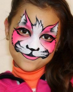 Face painting cat Mais