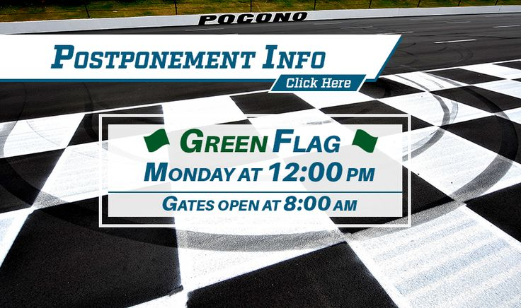 NASCAR Race Mom: Pocono Raceway - Monday Race Schedule Update
