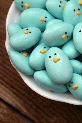 Jordan Almond Bluebirds- adorable!