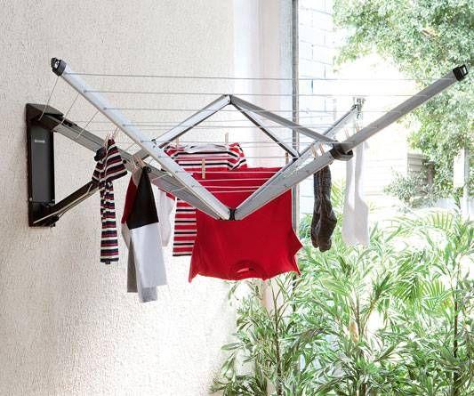 Brabantia Wallfix Clothesline 25m