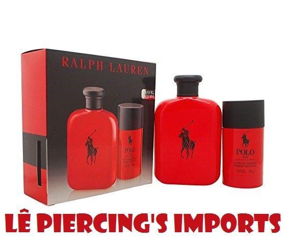 Kit Perfume Polo Red Masculino 125ml EDT Eau de Toilette + Desodorante 75gr Ralph Lauren