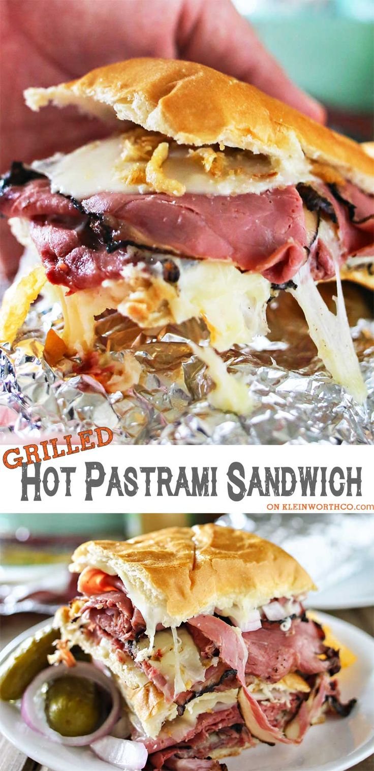 Summer grilling just got better with this Grilled Hot Pastrami Sandwich. Combining foil grilling & the love for a pastrami sandwich, it's delicious & easy! #ad