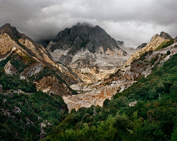 Edward Burtynsky's otherworldly photographs of granite and marble quarries in Vermont