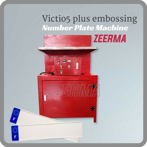 Supply Victio5 plus embossing press of number plate making machine for suppliers number plate, i.e. plate making, metal plate printing and plates number.