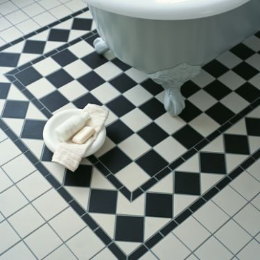 Black and White Oxford Corner - Quarry & Encaustic - Shop by tile type - Wall & Floor Tiles   Fired Earth