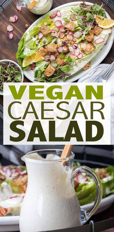Grilled Romaine Salad With Vegan Caesar Dressing